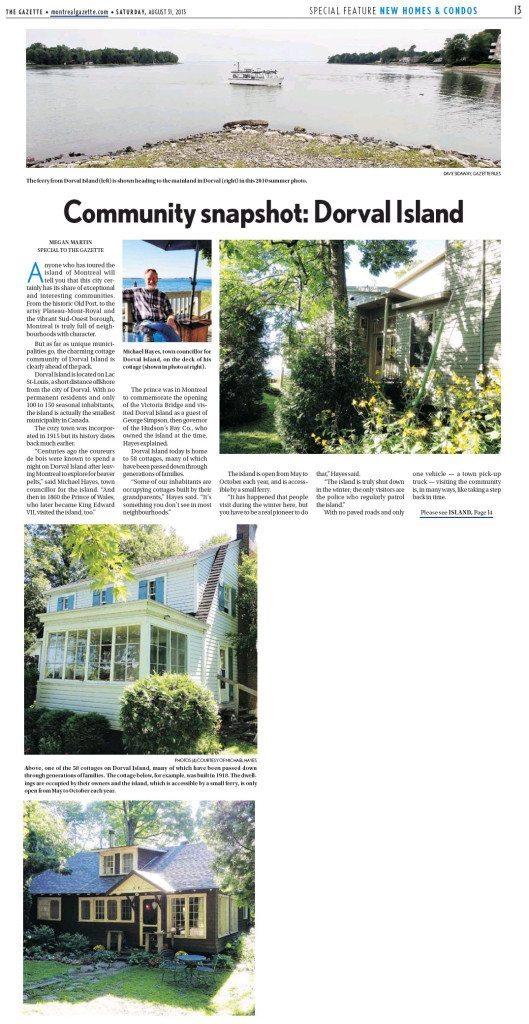 Gazette Article Page 1